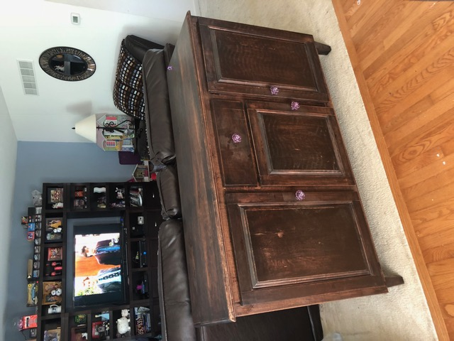This Is A Dining Room Buffet I Made For My Daughter. It Is Made Of Cherry  But It Is Stained Dark. It Is 60 Inches Wide By 20 Inches Deep And 36 ...
